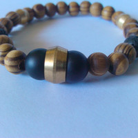 Kiki-Jabri Jewels Men's Collection Beaded Bracelets: Matte Onyx Bead Bracelet
