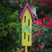 butterfly house whimsical & fun | BeeGracious - Woodworking on ArtFire