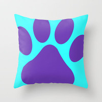 Paws Throw Pillow by  Alexia Miles photography