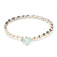 Brandy ♥ Melville |  Twisted Light Blue Gem Ring - Accessories