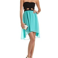 Cutout Waist 2-Fer Tube Dress: Charlotte Russe