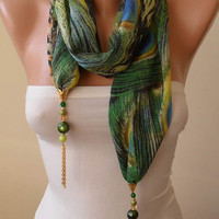 Trending Scarf Jewelry Scarf Mother's Day Gift by SwedishShop