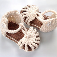 Strappy Sandal Mary Jane's Crochet Jellies by HoneyBearHillMN