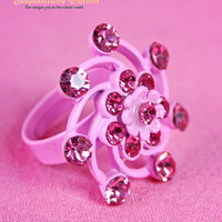 Crystal Decoration Swirl Ring