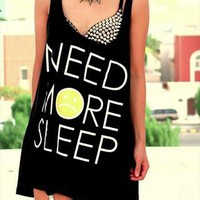 need more sleep tank top from mancphoebe