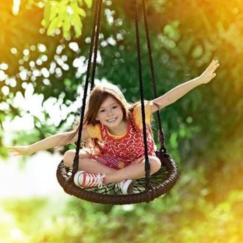 Round-and-Round Nylon Rope Outdoor Swing