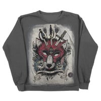 UNISEX Tattoo Flash Sweatshirt, Liberty In Death, Charcoal Grey, S/M/L/XL