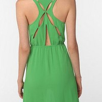 Crepe Super Slit Back Dress