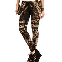 SALE-Leopard Printed Stripes Leggings