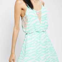 Pins And Needles Chiffon Lace-Mix Dress