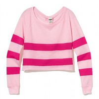 Crop Raglan Tee - PINK - Victoria's Secret