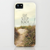 eat sleep beach iPhone & iPod Case by Sylvia Cook Photography
