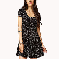 Fit & Flare Polka Dot Dress