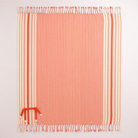 Spicy Orange Stripe Picnic Blanket | World Market