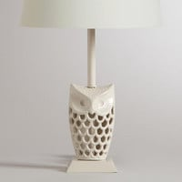 White Owl Accent Lamp Base - World Market