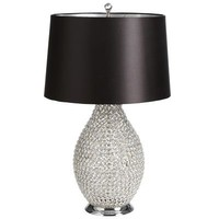 Beaded Crystal Lamp