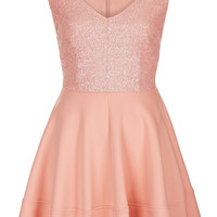 Sequin Bodice Skater Dress - Dresses - Clothing - Topshop