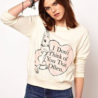 The Orphan's Arms I Don't Think Of You Raglan Jumper at asos.com