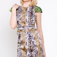 Naven Party Dress with Straight Skirt- Naven Python Dress- $85