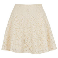 Cream Lace Skater Skirt