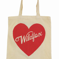 PIN-UP HEART TOTE BAG at Wildfox Couture in  - CREAM