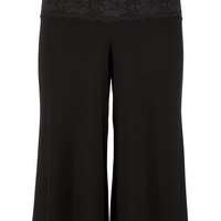 Lace Waist ITY Gaucho Bottoms