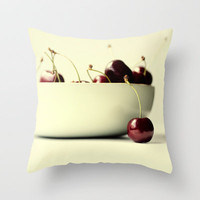 cherries Throw Pillow by ingz
