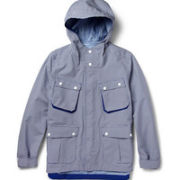 White Mountaineering Gingham-Check Waterproof Hooded Jacket | MR PORTER