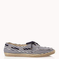 Striped Espadrille Boat Shoes | 21 MEN - 2049040160