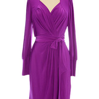 Sexy Sabrina Dress in Vivid Purple