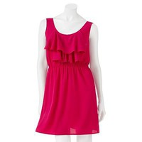 Utlra Pink Ruffled Sleeveless Dress - Juniors