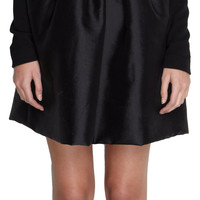 Lanvin Long Sleeve Ruffle Front Tie Neck Dress at Barneys.com