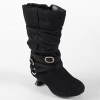 Journee Collection Joy Midcalf Slouch Boots - Toddler Girls