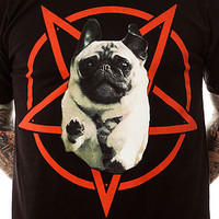 Flying Coffin Tee Hellhound Redux Crew in Black