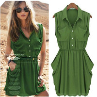 Trendy Summer Chiffon Dress