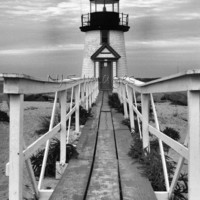 Brant Point Lighthouse - 11x14 Print - Photography - Home Decor #nauticaldecor #black&white