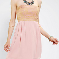 Pins And Needles Sedona Strapless Chiffon Dress