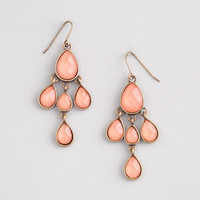 Pink Stone Faceted Chandelier Earrings | World Market