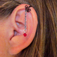 "No Piercing Ear Cuff for Upper Ear Cartilage ""Chained Up"" 1 Cuff"