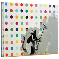 Art Wall Banksy 'Rat Spots' Gallery-wrapped Canvas | Overstock.com