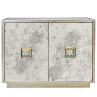 Worlds Away Winslow Silver Leaf Cabinet