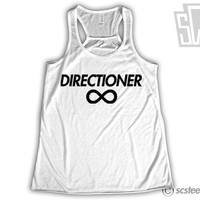 "One Direction ""Directioner"" Singlet - 1D Tank Top Harry Styles, Niall Horan, Zayn Malik, Liam Payne, Louis Tomlinson- Item: 011"