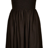 Black Shirred Cup Cover Up - Sale - Sale & Offers - Topshop USA