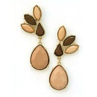 Brown Ombre Teardrop Earrings