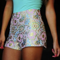 RESTOCK: A Metallic Wonderland Shorts: Multi | Hope's