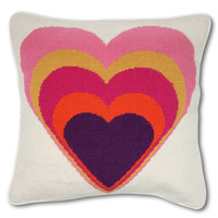 Jonathan Adler Heart Needlepoint Pillow
