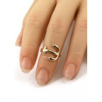Anchor Midi Ring