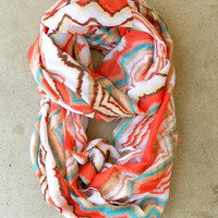 Zig Zag Loop Scarf [3936] - $21.00 : Vintage Inspired Clothing & Affordable Summer Frocks, deloom | Modern. Vintage. Crafted.