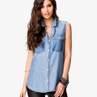 Buttoned Chambray Shirt