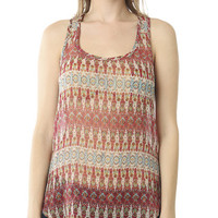 Paisley Pocket Chiffon Tank | Shop Tribal at Wet Seal